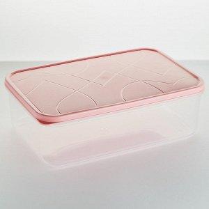Контейнер для продуктов 1,5л прямоугольный VITAMINO GR1851КЛ клубничный лед