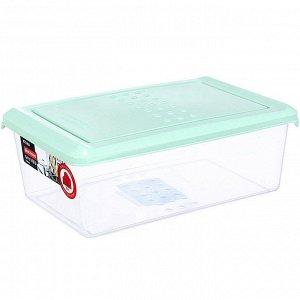 Ёмкость для хранения продуктов прямоугольная 1,05л PATTERN PT1095/КМТ-24 мятная