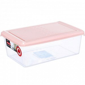 Ёмкость для хранения продуктов прямоугольная 1,05л PATTERN PT1095/КПД-24 пудровая