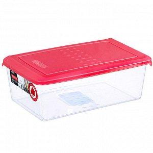 Ёмкость для хранения продуктов прямоугольная 1,05л PATTERN PT1095КОРАЛ-24РN коралловая
