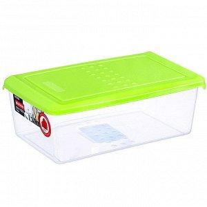 Ёмкость для хранения продуктов прямоугольная 1,05л PATTERN PT1095ЛАЙМ-24РN лаймовая
