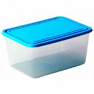 Емкость для продуктов прямоугольная 1,2л голубая М1452