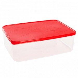 Контейнер для продуктов 2,5л прямоугольный VITAMINO GR1852ЧЕРРИ черри