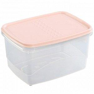 Ёмкость для хранения продуктов прямоугольная 2.3л PATTERN FLEX РТ1133/КПД-10 пудровая