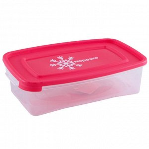 """Комплект контейнеров 3штуки 0,7л для замораживания продуктов """"МОРОЗКО"""" прямоугольных 54036"""