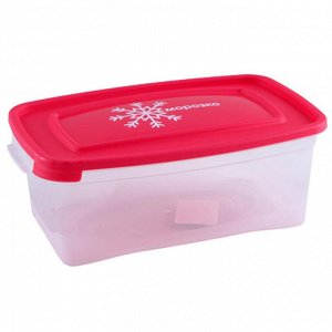 """Комплект контейнеров 3штуки 1,0л для замораживания продуктов """"МОРОЗКО"""" прямоугольных 57036"""