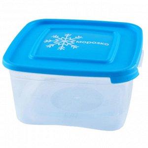 """Комплект контейнеров 1,0л для замораживания продуктов """"МОРОЗКО"""" квадратных 67036"""