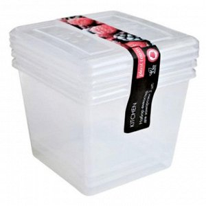 Набор емкостей для заморозки квадратных 3 штуки 1 л РТ2010НАТ-12 натуральный