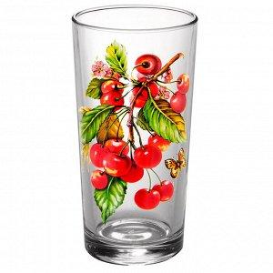 Набор стаканов 250мл 6штук (Вишня на веточке) 146-Д