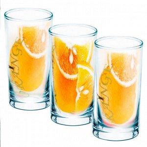 Набор 3 стакана (Апельсин) ДСГ424020306