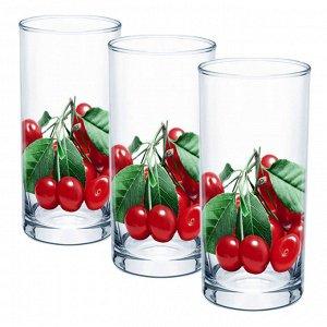 Набор 3 стакана (Вишня) ДСГ424020329