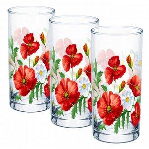 Набор 3 стакана (Маки) ДСГ424020339