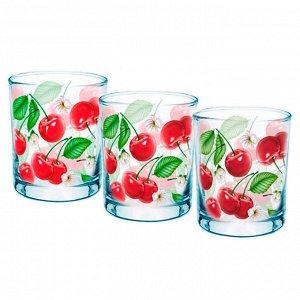 Набор 3 стакана (Вишневый сад) ДСГ424030338