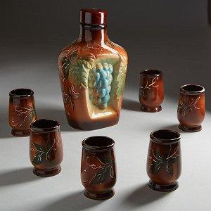 Штоф 1,5 л ВИНОГРАД (керамика) (ручная работа) ТШВ-93187