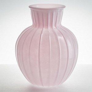 """Ваза 195 мм 92-001 """"Белла"""" прозрачная крашеная розовая опак"""