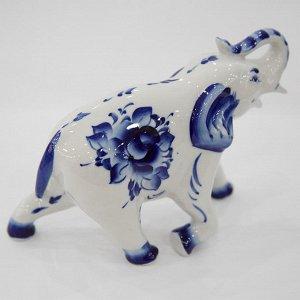 Скульптура 17см Слон №4 (гжельский фарфор) 993156801