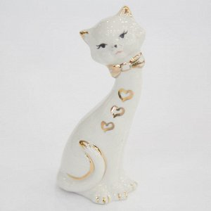 Статуэтка 12см Кошка малая (фарфор) (ручная работа)