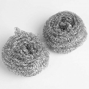 Набор из 2-х чистящих мочалок металлических 14МР-032