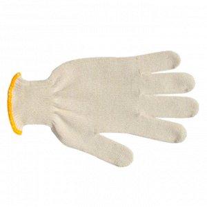Перчатки х/б без ПВХ Стандарт белые 10 кл.