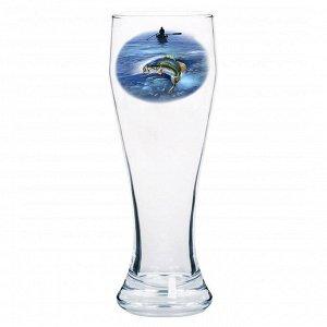 """Бокал для пива 500мл """"Рыбалка"""" (Подарочный) 303-Д"""