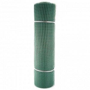 Сетка садовая пластиковая квадратная Зеленый луг БЮДЖЕТ 15x15мм, 1x20м, зеленая