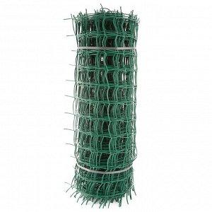 Сетка садовая пластиковая квадратная ПРОФИ 83х83мм, 1x20м, зеленая