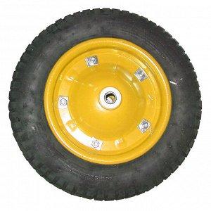 Колесо пневматическое усиленное 350-8 (желтое)