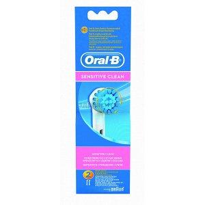 Орал-Би Насадки Для Электрических Зубных Щеток Ebs17 Sensitive Clean №1 + Sensi Ultra Thin №1