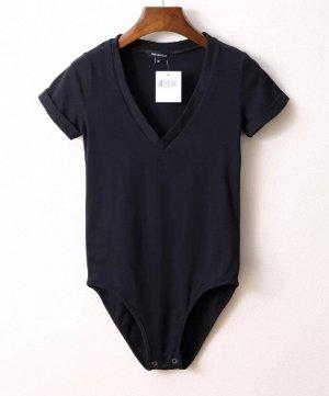Женское боди-футболка черное
