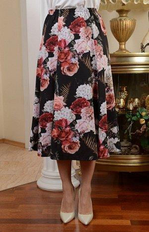 Юбка годе с цветами
