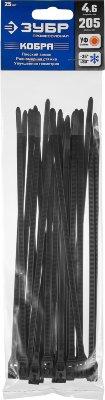 Кабельные стяжки черные КОБРА