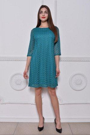 Платье Гламур бирюза