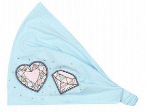 Красивая повязка голубого цвета, размер 52-54, фирмы Noble people.