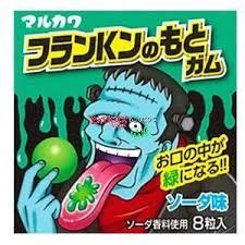 "MARUKAWA жев. резинка ""Франкенштейн"", 8 шариков, 13 г."