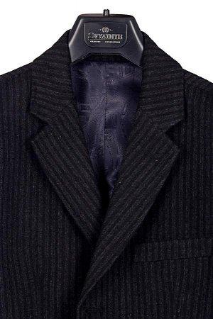 Пальто Код товара: 31360 Артикул: 190-3-Р2 Сезон: демисезонные Модель: Р2 Цвет: серый Фактура: полоса Состав: шерсть-85%, вискоза-10%, полиэстер-5%
