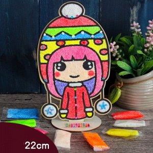 Аппликация пластилином девочка в шапке