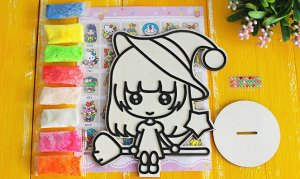 Аппликация пластилином Kitty фея