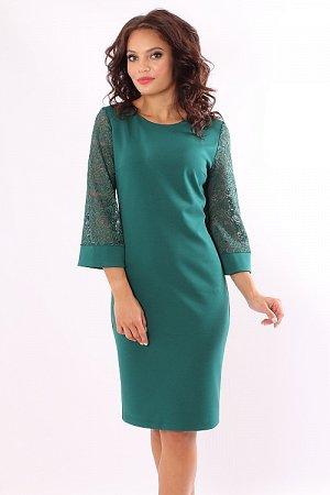 Красивое изумрудное платье. Россия.