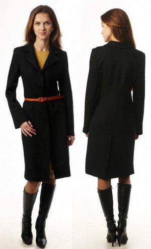 Пальто из вареной шерсти приталенное