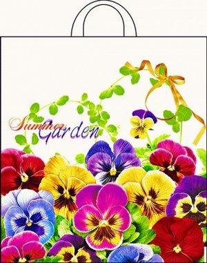 """Пакет ПНД (38х42 см) с петлевой ручкой """"Летний сад"""" 40мкм"""