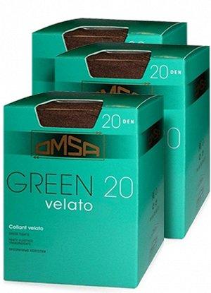 Тонкие матовые колготки Omsa GREEN из полиамида плотностью 20 ден
