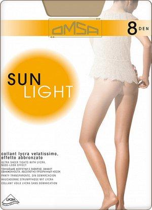 Тонкие прозрачные колготки Omsa Sun Light плотностью 8 ден