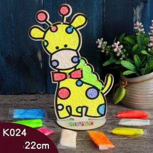 Аппликация пластилином Жираф