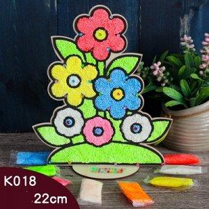 Аппликация пластилином  Цветы