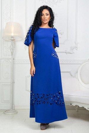 Платье с перфорацией  Артикул: 17613  ЧЕРНОЕ