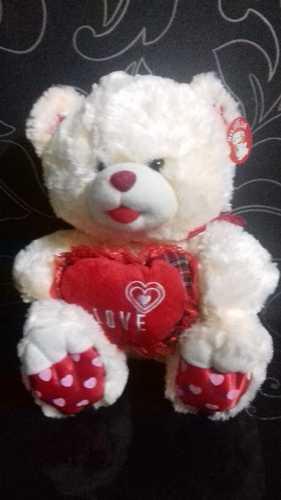 Мягкая игрушка Мишка с сердцем, 40 см.цвет в ассорт.