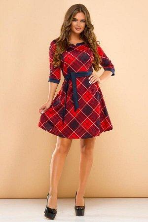 Клетчатое платье на 42-44 размер
