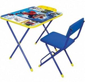 """К-т детской мебели """"Великий человек-паук"""" (Д2Ч, 3-7 лет,мал.,мягкое моющаяся ткань, голубой, синий)"""