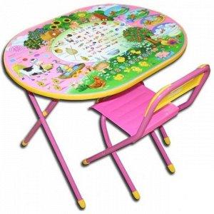 """Набор мебели """"Дэми"""" Овал №у3-01 (розовый) - """"Веселая Ферма"""""""