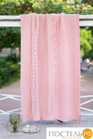 """Плед """"LUX 34"""", ТМ """"Luxberry"""", р-р: 150 х 200см, Хлопок 100%, цвет: розовый"""